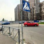В Шушарах появился дорожный знак с градоначальником